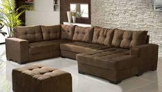 sala pequena sofá marrom escuro - Pesquisa Google
