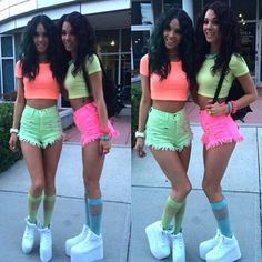 Neon Party Outfit Ideas Gallery pin on fashion dress Neon Party Outfit Ideas. Here is Neon Party Outfit Ideas Gallery for you. Neon Party Outfit Ideas black light party outfit ideas neon party glow run. Glow Party Outfit, Neon Birthday, Birthday Party For Teens, Birthday Ideas, Neon Party Outfits, Summer Outfits, Neon Crop Top, Crop Tops, Fashion Models