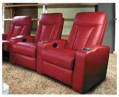 Sofa Mart AUBURN pcs Red Bonded Leather Recliner Sofa Couch Sectional Set Living Room Bonded leather Recliner and Living rooms