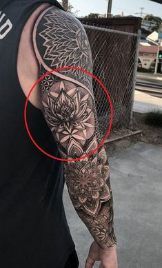 Animal Mandala Tattoo, Mandala Tattoo Men, Animal Sleeve Tattoo, Leg Sleeve Tattoo, Forearm Tattoo Men, Sun Tattoo Designs, Tattoo Sleeve Designs, Tricep Tattoos, Geometric Mountain Tattoo