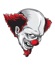 Taz Tattoo, Clown Tattoo, Evil Clowns, Scary Clowns, Skull Sleeve Tattoos, Joker Drawings, Clown Horror, Le Double, Doodle Art Drawing