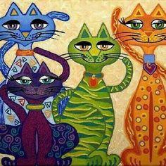 Color cats