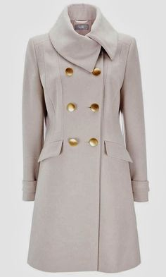 Beautiful warm trench coat for winter fashion