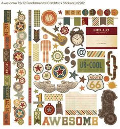 Awesome - Simple Stories Inspiration for the boys' room....canvas + HELLO my name is = brilliant