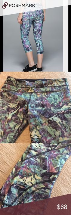 Run Inspire Crop Iridescent Multi Excellent condition. lululemon athletica Pants Ankle & Cropped