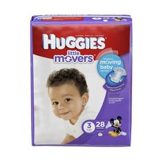 Size 3 Baby Diaper Huggies Little Movers Tab Closure (16-28 lbs) | Huggies #40766 #medical #medicalsupplies #pro2medical #health #healthcare #lifestyle #Lubbock  #body #physicaltherapy #compression
