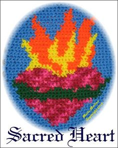 Ravelry: Crochet Sacred Heart Tapestry Afghan Chart Graph Free pattern by Maria Merlino