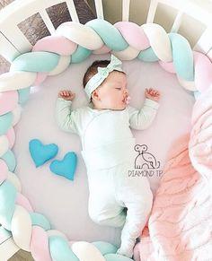 1 PC bebê bumper cama 2 m comprimento Nó Bebê Travesseiro da cama Almofada, fundamento Do Berçário Do Bebê Quarto da Casa da Criança decoração EY17A
