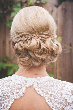 Wedding hairstyle; via WeddingWire