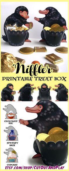 Boîte à friandises imprimable Niffler ,  #boite #friandises #imprimable #niffler