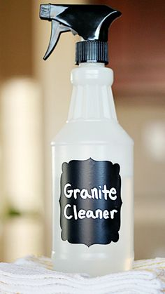 Homemade Granite Cleaner ~ just three ingredients you probably already have!