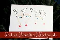 I've done this with fingerprints, too. Christmas Footprint Craft Idea -Momo