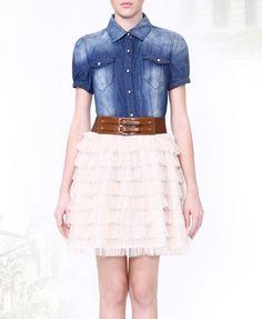 Denim Dress. so pretty :3