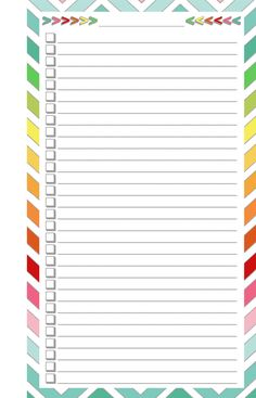 Blank List - Half Page (FREE Printable!!)