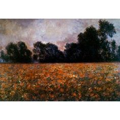 Field of Wild Poppies Claude Monet (1840-1926 French) Canvas Art - Claude Monet (18 x 24)