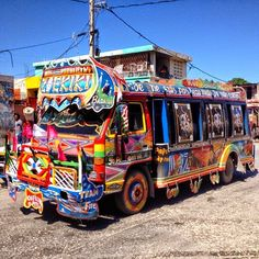 "Haiti Tap Tap Bus - Photo Courtesy of Uncornered Market - ""Blogging the Caribbean"""