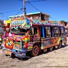 "Haiti Tap Tap Bus - Photo Courtesy of Uncornered Market - ""Blogging the Caribbean"""