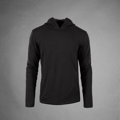 100% Merino Wool Intrior Bonded to an Abrasion-Resistant Nylon Shell. Shown in Black