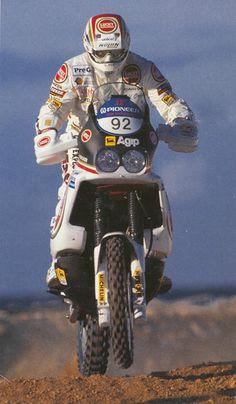 Edi Orioli, Cagiva 900, Dakar 1990