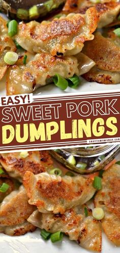11 reviews · 50 minutes · Serves 60 · Never had homemade potstickers? Learn how to make this easy pork dumplings recipe! Whether pan-fried or steamed, you will find yourselves shoveling them fast when served with dipping sauce! Better… Recipes Using Pork, Pork Recipes For Dinner, Healthy Diet Recipes, Cooking Recipes, Drink Recipes, Crockpot Recipes, Yummy Recipes, Free Recipes, Healthy Food