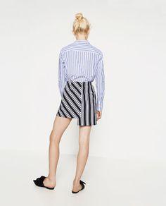 Image 5 of STRIPED MINI SKIRT from Zara