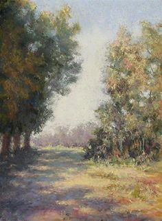 "Early Morning Shadows by Kathy Detrano Pastel ~ 12"" x 9"""