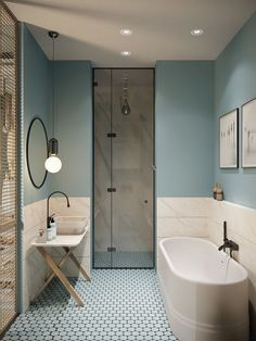 22 Bathroom Interior Design for Totally Transform of Your Old Home & shower for small space. For in law suite? | Decor | Pinterest ...
