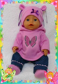 Doll Clothes for Baby Born, 4 Pieces: Without doll.