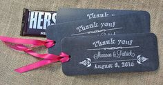 Chalkboard Favors For Weddings, Chalkboard Candy Bar Wrappers, Country Wedding Favors, by abbey and izzie designs