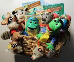 Swamp Critters of the Lost Lagoon gift basket | Cool auction item idea for kids on ShopBidGive.com