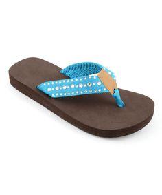 6747ca2f766d4e Corkys Footwear Turquoise Flirt Flip-Flop - Women