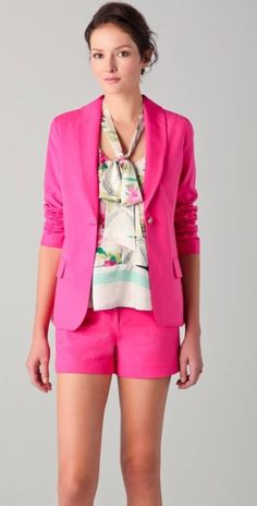 Elizabeth and James bold pink blazer