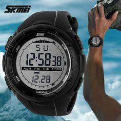 2016 neue Skmei Marke Männer LED Digital Military Watch, 50 Mt Dive Swim Kleid Sportuhren Fashion Outdoor Armbanduhren