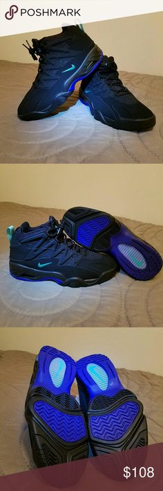 e88c55d98e1 Nike Agassi NEW Nike Air Flare Agassi Basketball Sneakers Black HyperGrape  Teal w out box Nike Shoes Athletic Shoes