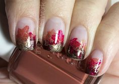 The Nail Network: Autumn Leaves French Manicure