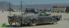 Vector Mad Maxed Post Apocalyptic Wasteland Road Warrior - Dusty Post Apocalyptic Mad Max Wasteland Road Warrior Car Vector