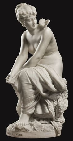"""""""Messaggio d'amore."""" By Cesare Lapini - Circa. After 1893. The Lower Parterre (below the Formal Parterre) shall have an exact replica of this sculpture."""