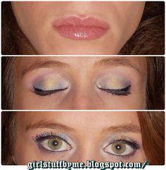 #greeneyes #makeup #blueandyellowmakeup #lips