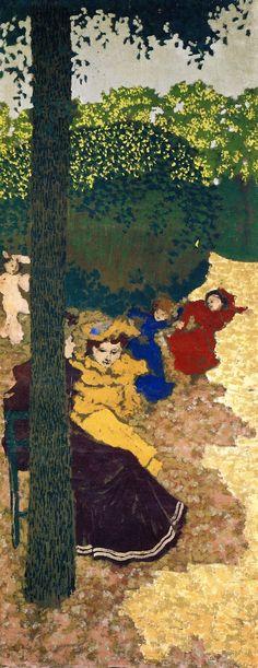 The Athenaeum - The Public Gardens - Young Girls Playing (Edouard Vuillard - )