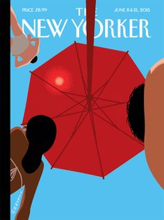"""The New Yorker: June 8 & 15, 2015.  The cover of our annual Fiction issue, (animated) """"Summer Sky,"""" by Christoph Niemann."""