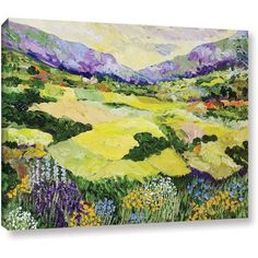 ArtWall Allan Friedlander Cool Grass Gallery-Wrapped Canvas, Size: 18 x 24, Pink