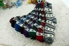 New unisex men women warm & thick Angora Flower pattern Winter socks_9…