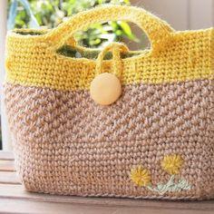 夏のお出かけ麻カゴバッグ 花刺繍