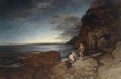 Le Prince Lointain: Oswald Achenbach (1827-1905), Soir sur la Côte - 1...