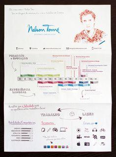 Curriculum / Resume / CV by Nelson Tomé, via Behance