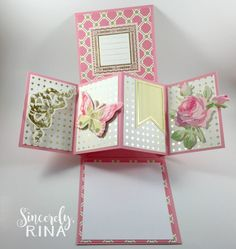 Twist Pop Up Panel Card Tutorial – Sincerely Rina Diy Inspiration, Card Making Inspiration, Card Making Tutorials, Card Making Techniques, Popup Cards Tutorial, Tarjetas Pop Up, Swing Card, Pop Up Box Cards, Fun Fold Cards