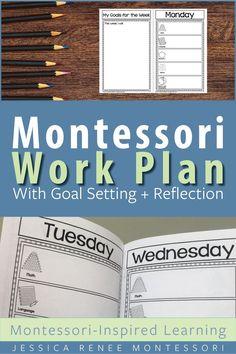 Montessori Work Plan Booklet