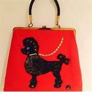 Host Pick! ️Vintage Red Poodle bag! Beauty! 1950s ...