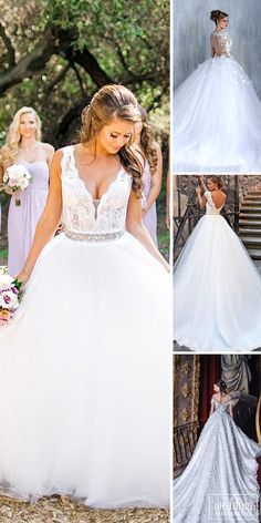 24 Various Ball Gown Wedding Dresses For Amazing Look ❤ Ball gown wedding dresses are a timeless and classic silhouettes that suits for all types of bodies. See more: http://www.weddingforward.com/ball-gown-wedding-dresses/ #wedding #dresses