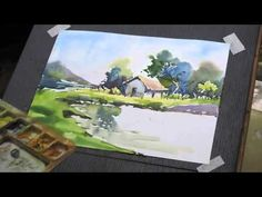 Sunil Linus De Water Colour Demo 6 - YouTube